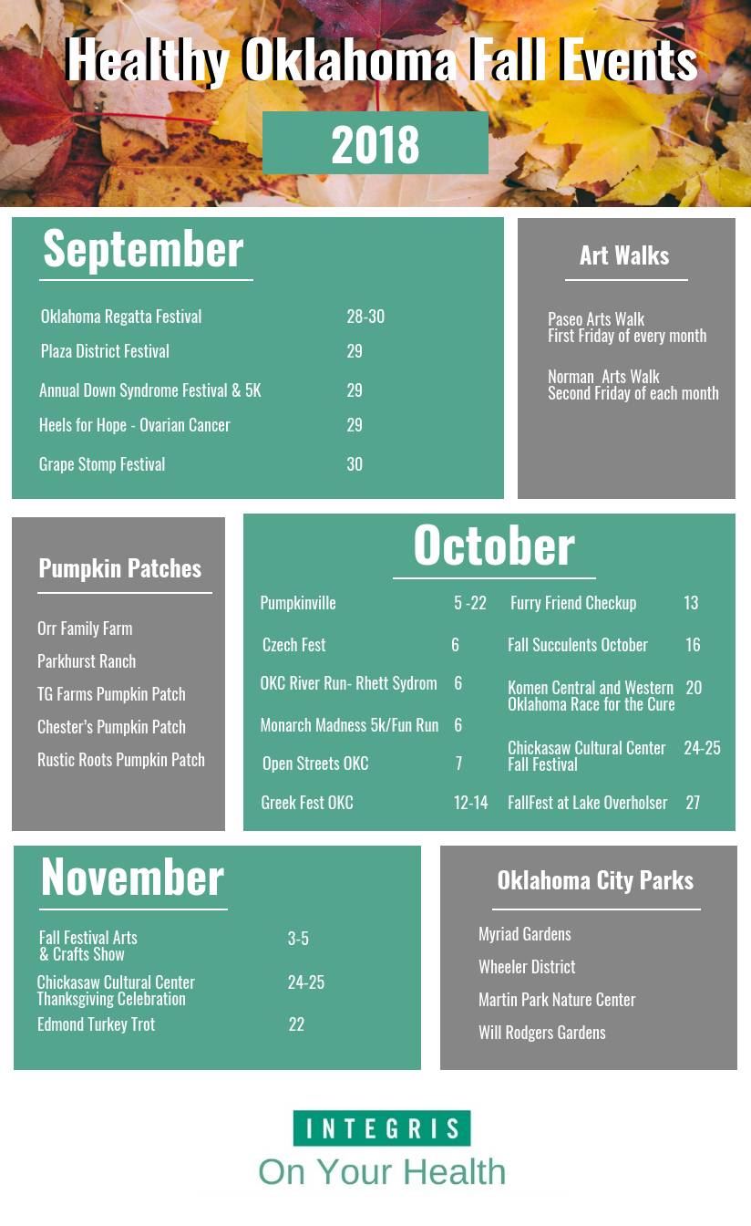 Fall 2018 OKC Event Calendar
