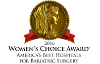 Women's Choice Award- Best Hospitals for Bariatric Surgery for 2016