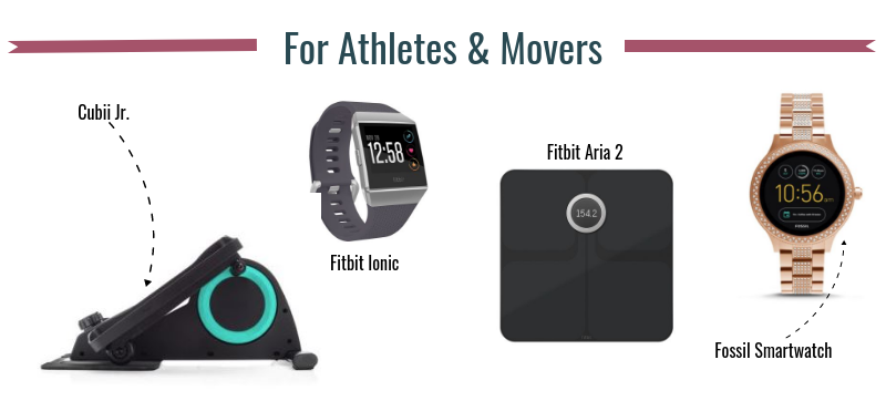 infographic of gadgets for athletes