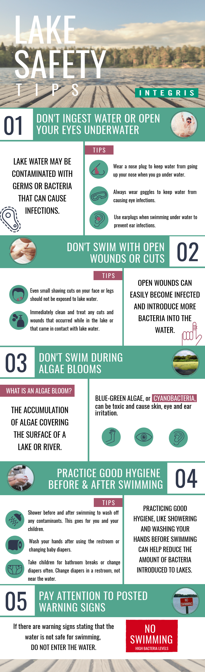 lake safety infographic