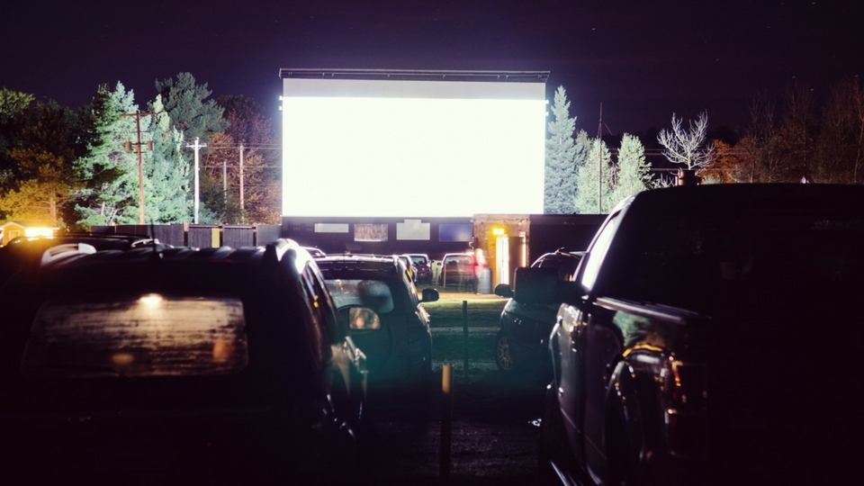 cars at a drive in