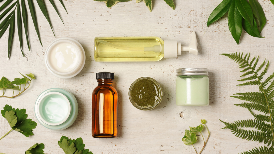 jars of skincare products