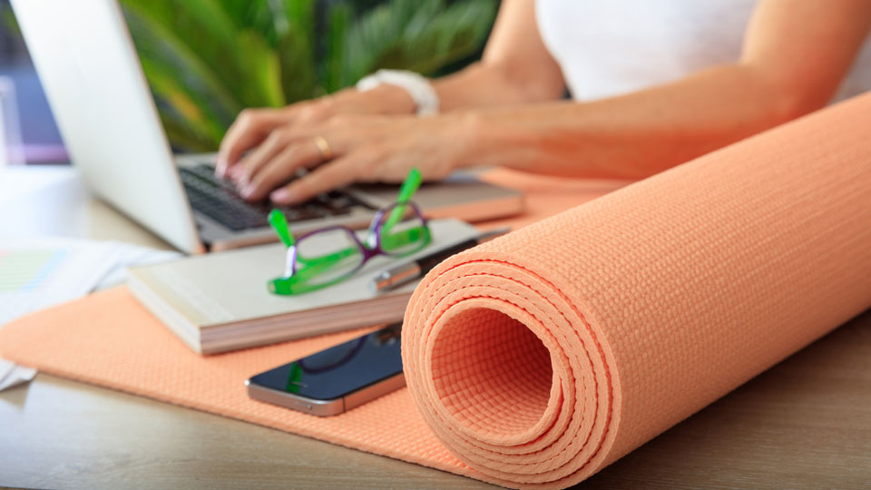 Counter The Negative Effects Of Sitting With Yoga Stretches At Your Desk No Yoga Mat Required Integris