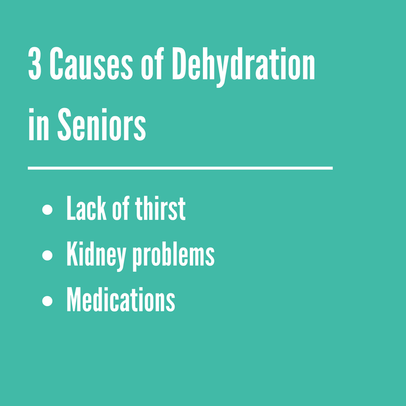 3 Causes of Dehydration in Seniors