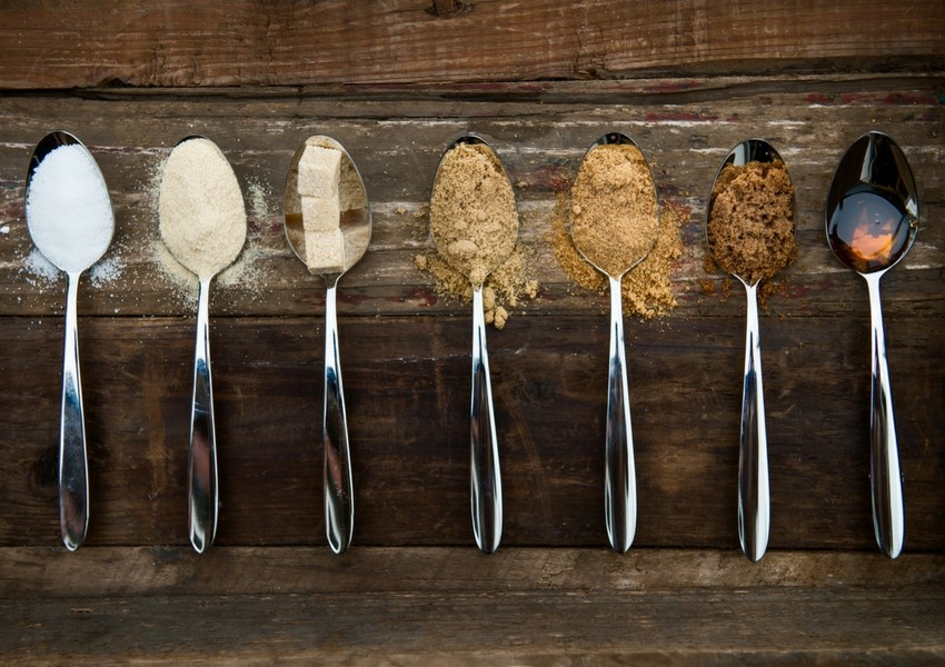 Spoons of Different Sugars