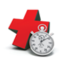 red cross and stopwatch
