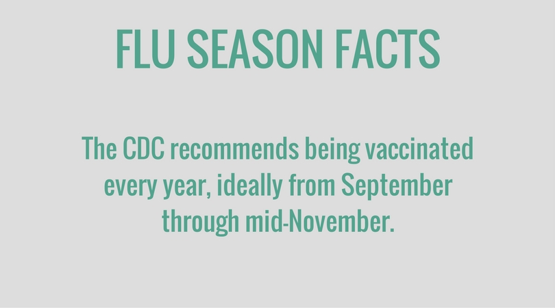 ideal times to get the flu vaccine