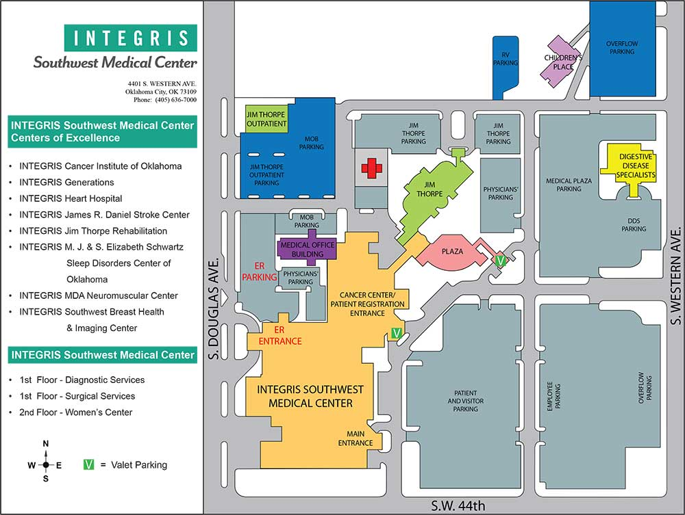 INTEGRIS Southwest Medical Center Campus Map