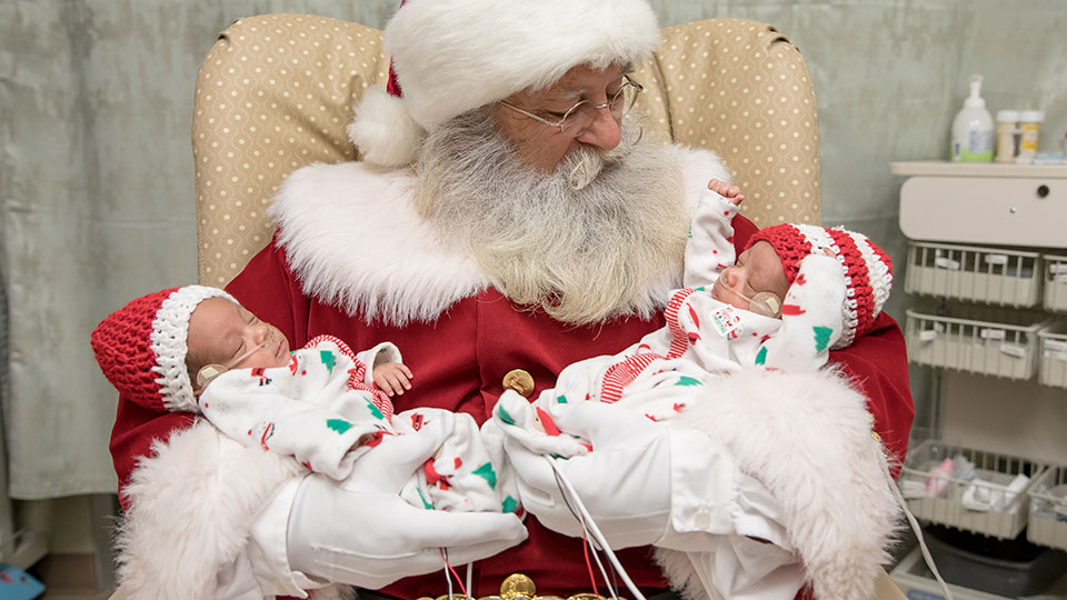 Santa Visits the NICU