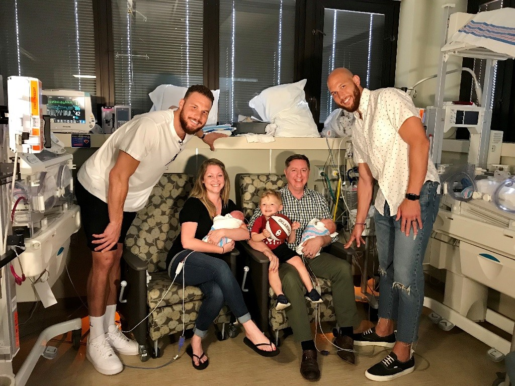 Blake Griffin meets patients at hospital