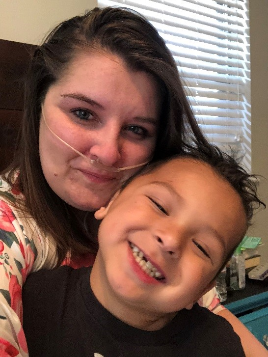 Raychel Baker and her son