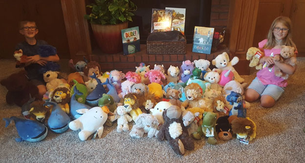 Sprinkle Children with Stuff Animal Donation